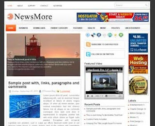 NewsMore Blogger Template