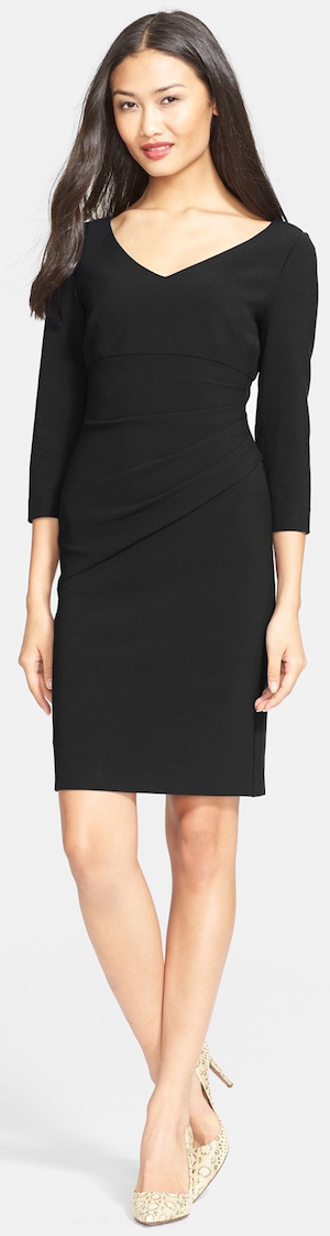 Diane von Furstenberg 'Bevin' Ruched Sheath Dress black
