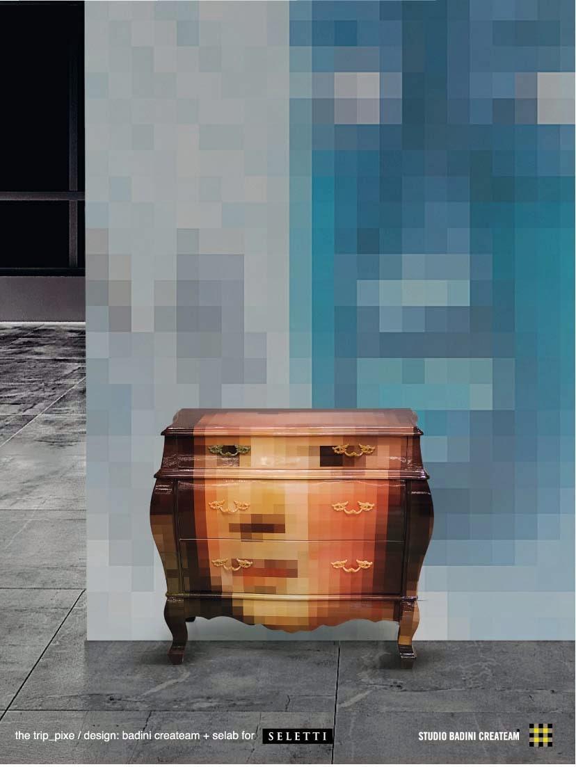 Badinicreateam The Trip Pixel Furniture Badini For Seletti