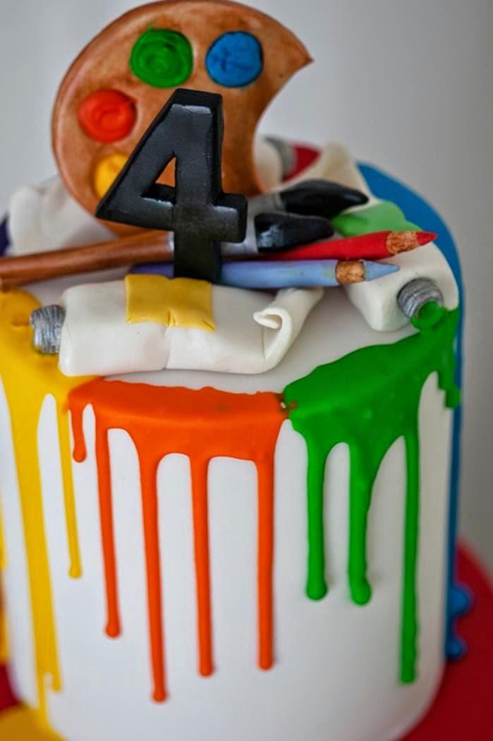 Art Party Cake Designs : Festa infantil -Tema pintor. - Mae bacana