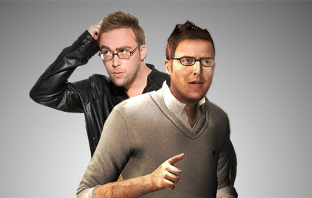 Danny Wallace and his digitalalter ego from Assasin's Creed