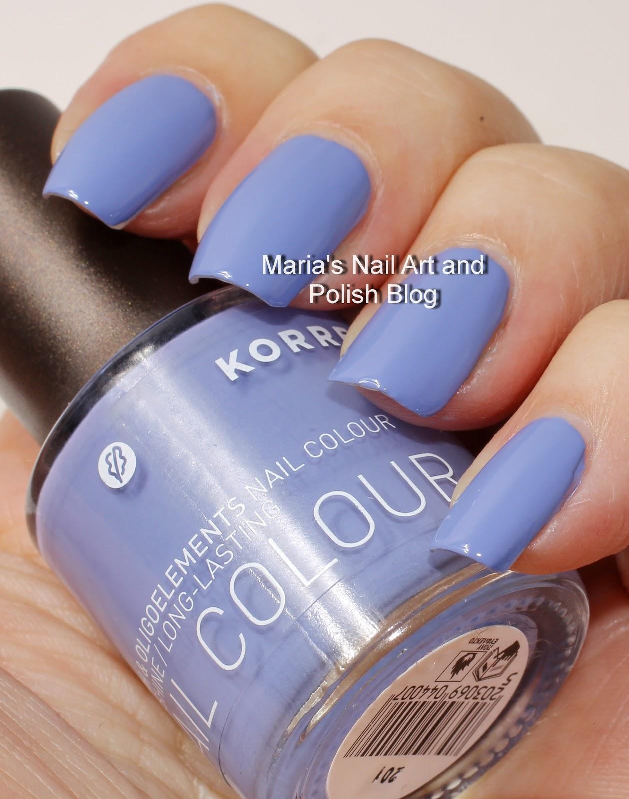 Marias Nail Art and Polish Blog: Korres Lavender 72 and Ultra Violet 29