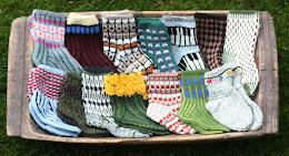 Oppskriftshefte på sokker.
