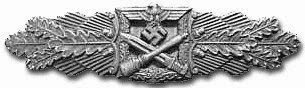 Close Combat Clasp, Awarded in Gold, Silver, and Bronze