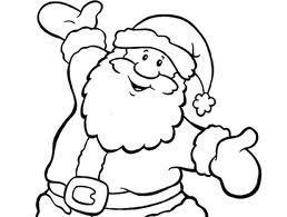 Imagens do Papai Noel Infantil Para Imprimir e Pintar/Colorir