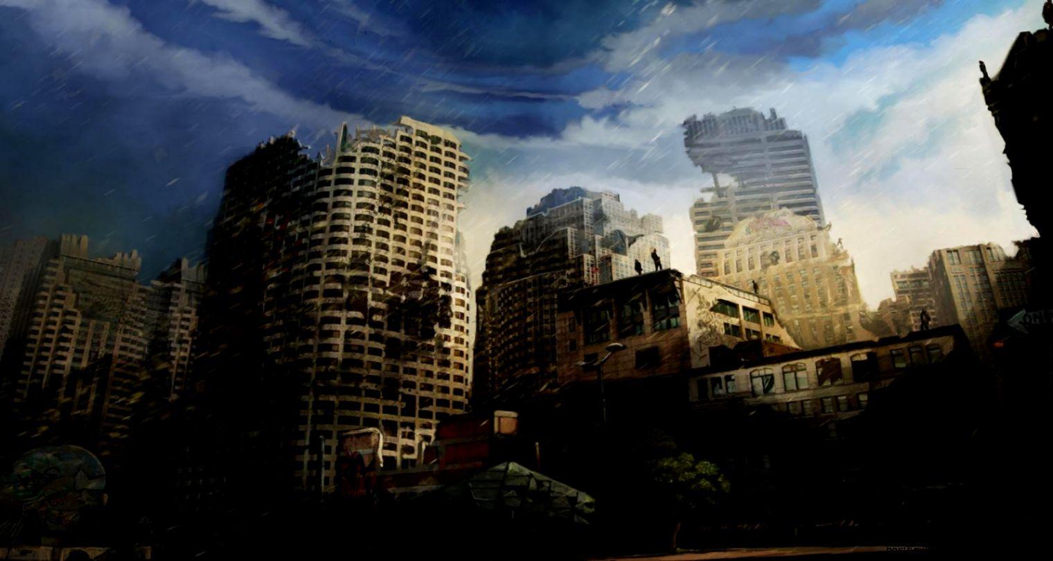 Art Wallpaper City When Rain