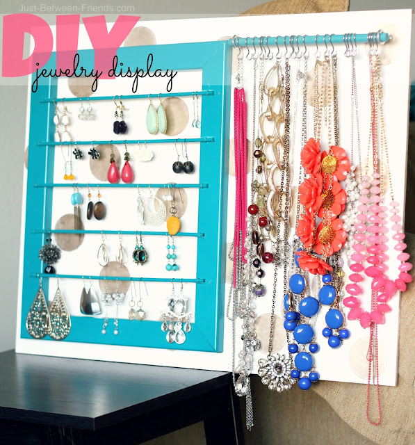 DIY Jewelry Display From Just Between Friends