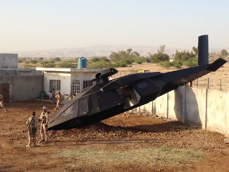 ... photo of a bin Laden raid stealth helicopter - or a fabulous fake