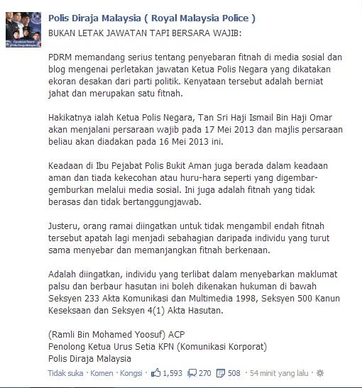 fitnah PRU 13