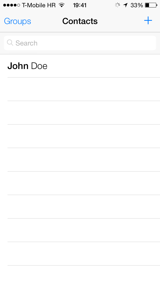how to set up contact groups on iphone 5