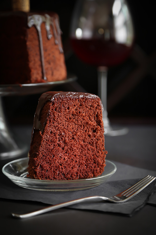 Chocolate Red Wine Chiffon Cake | Sprinkle Bakes