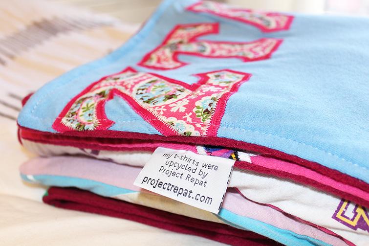 sorority t-shirt blanket