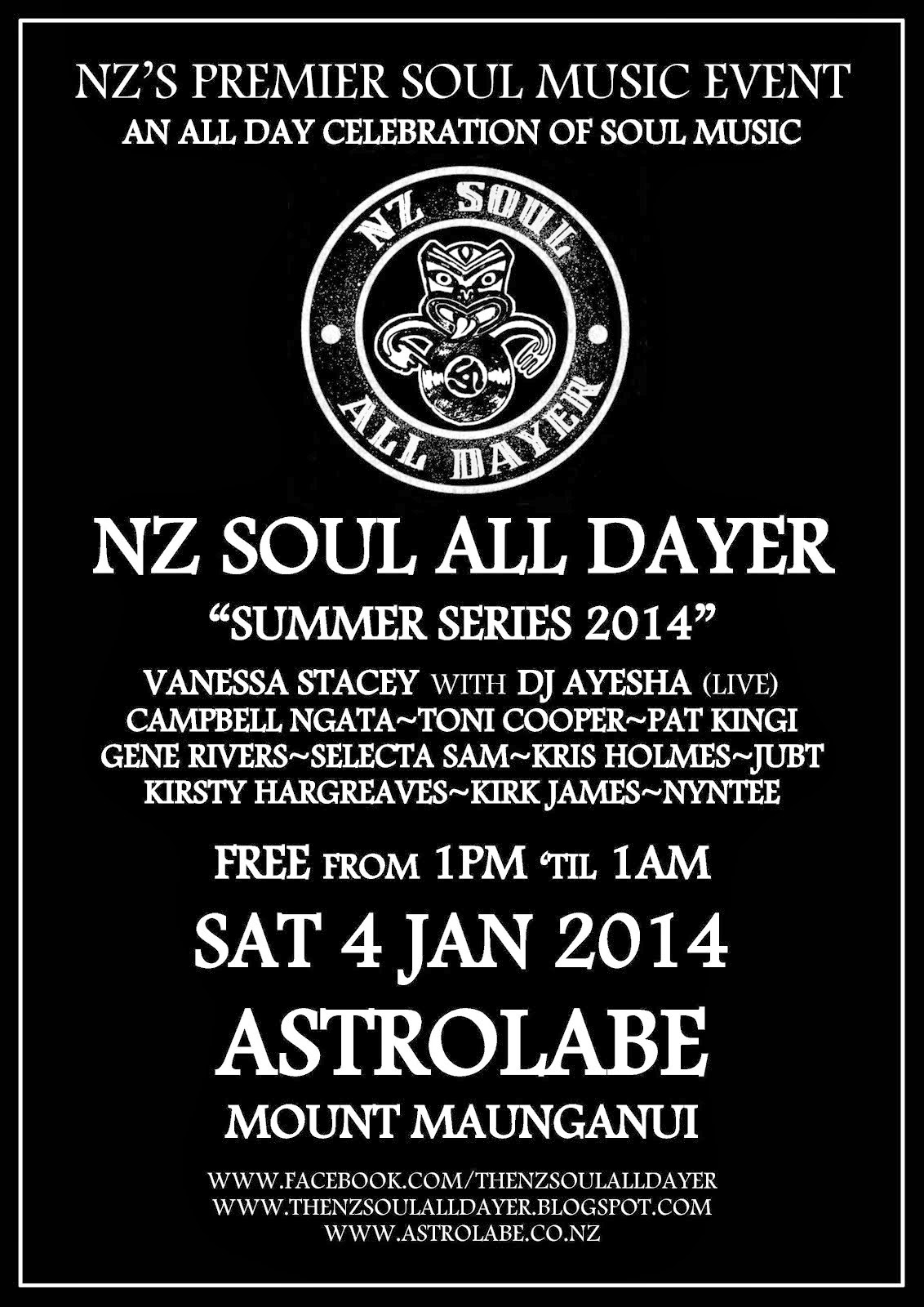 NZ Soul All Dayer Mt Maunganui 2014