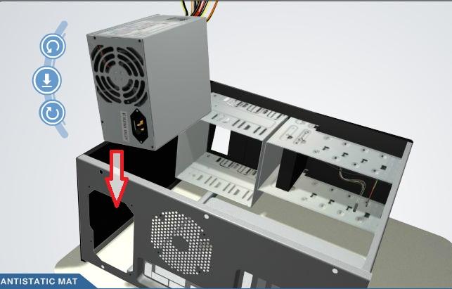 imagen fuente poder computadora: