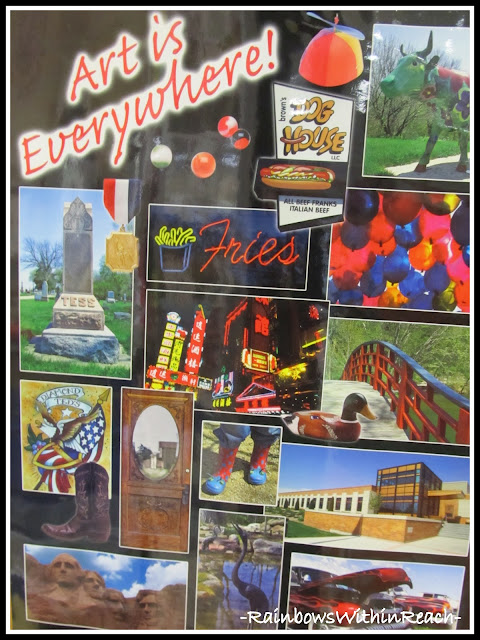 photo of: Art is Everywhere Poster (via Art Room RoundUP from RainbowsWithinReach)