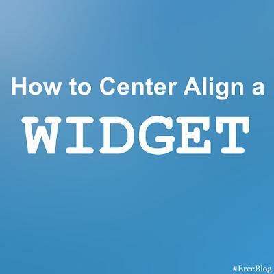 How-to-center-align-a-widget-on-wordpress