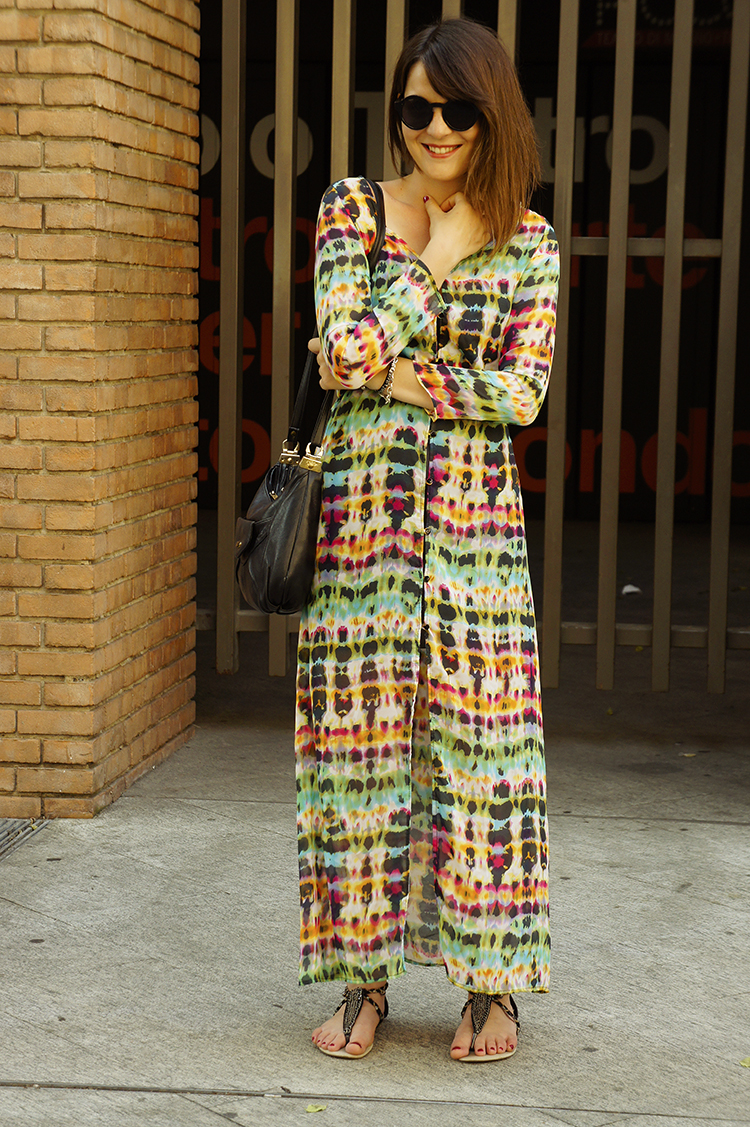 long colorful dress for summer