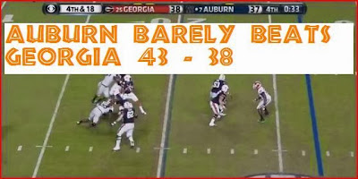 Auburn barely wins against Georgia