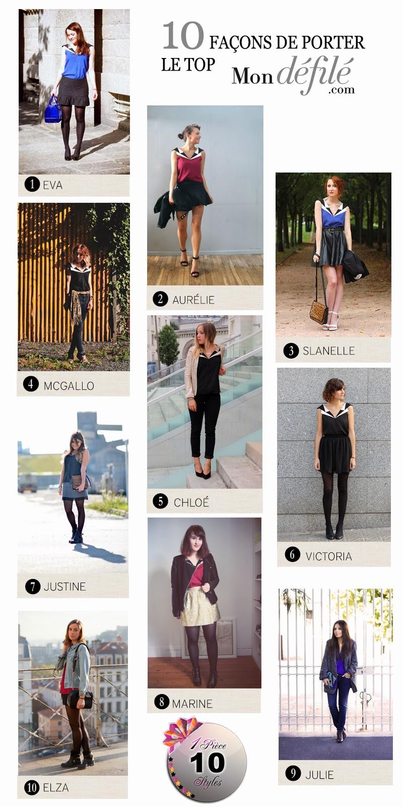 10 façons de porter le top cuir