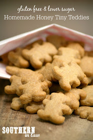 Healthy Honey Tiny Teddies Recipe - gluten free, nut free, egg free, healthy, low sugar