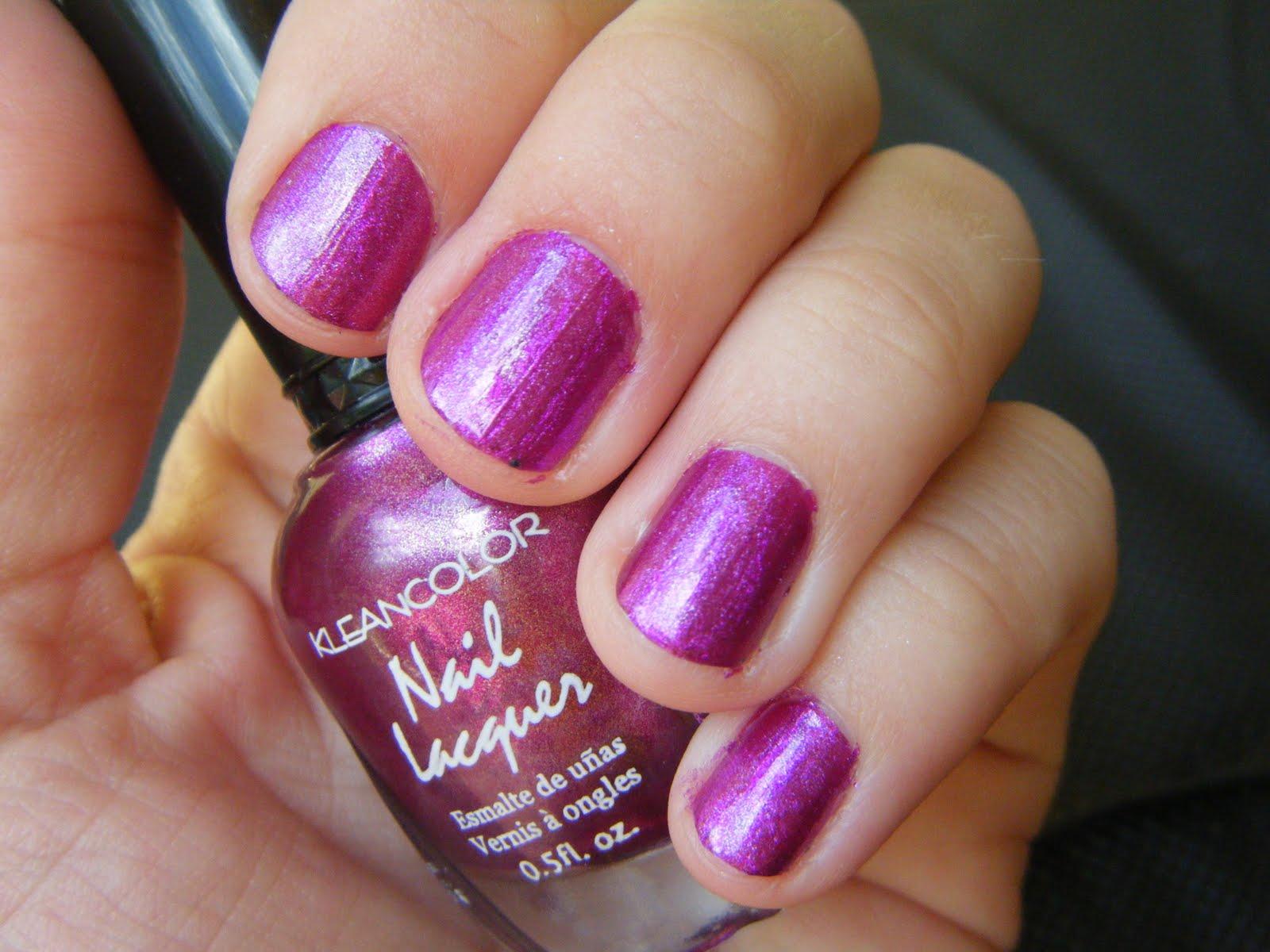 All Hail My Nails: Holo Fuschia Nails per the boyfriends request