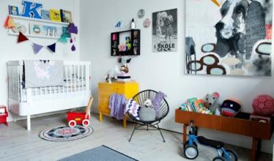 cuarto alegre para bebé