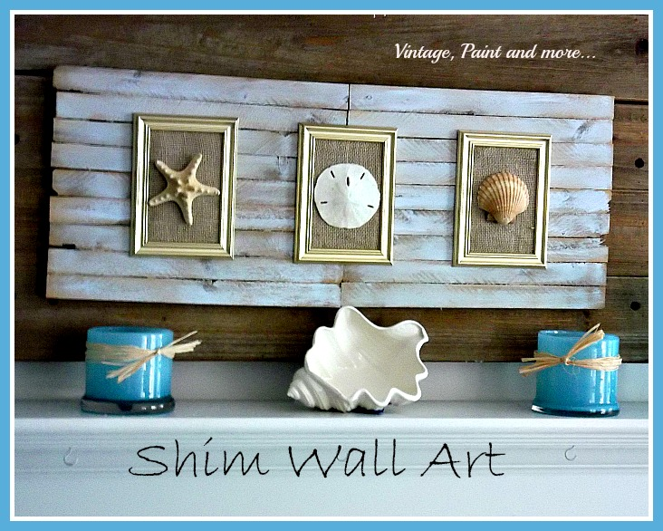 Vintage, Paint and more... beach decor, shim craft, shell craft