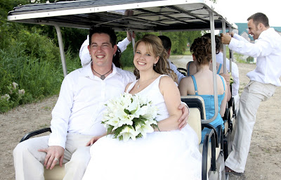 Wedding Golf Cart - Sprucewood Shores Estate Winery 2008 - Cara Mia Events