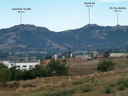 Panoràmica dels principals cims de Sant Vicenç de Torelló des del Camí de Targarona
