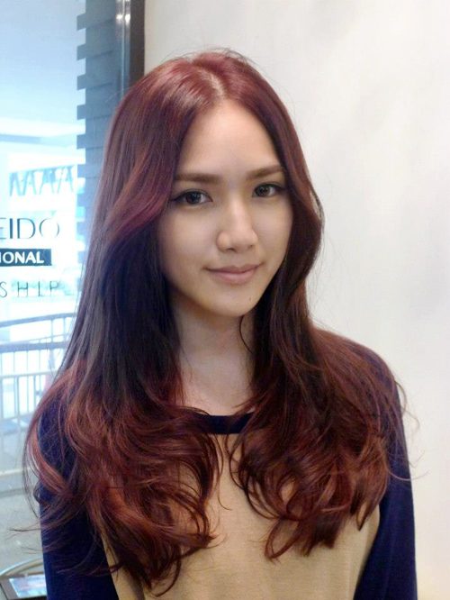 Cherry Brown Hair Color Happy with my hair color!