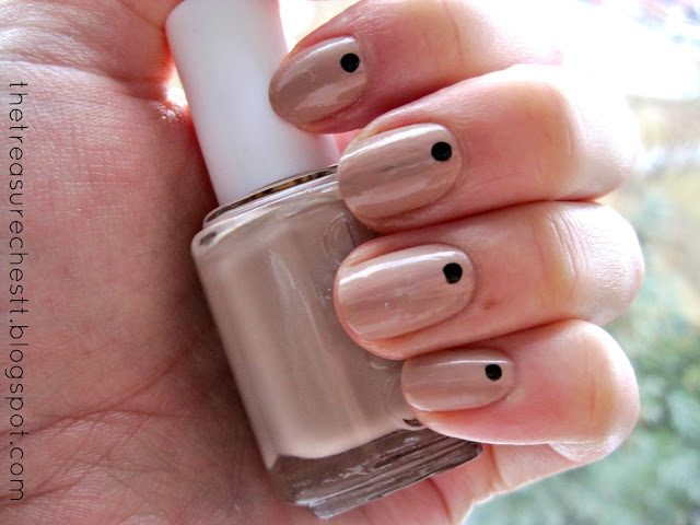 brooch the subject essie dot manicure accent nude nail swatch