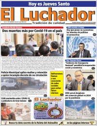 09/04/2020    PRIMERA PAGINA DIARIO DE VENEZUELA