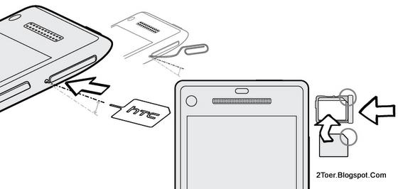 Eject SIM card tray holder Inser micro SIM HTC Windows Phone 8x