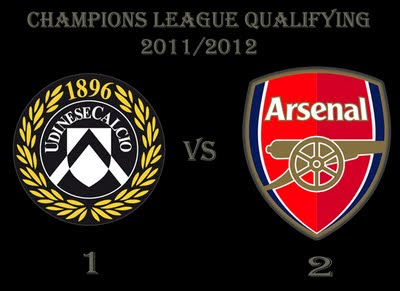 Arsenal vs Udinese Champions League qualifying second leg