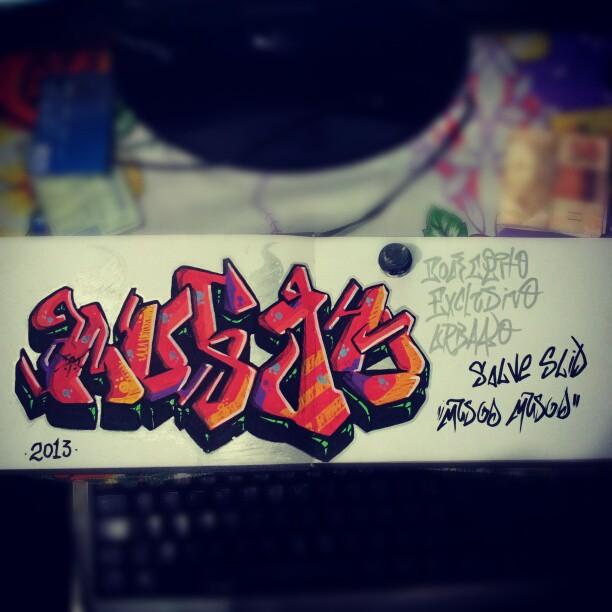 rascunho de graffiti feito em blackbook