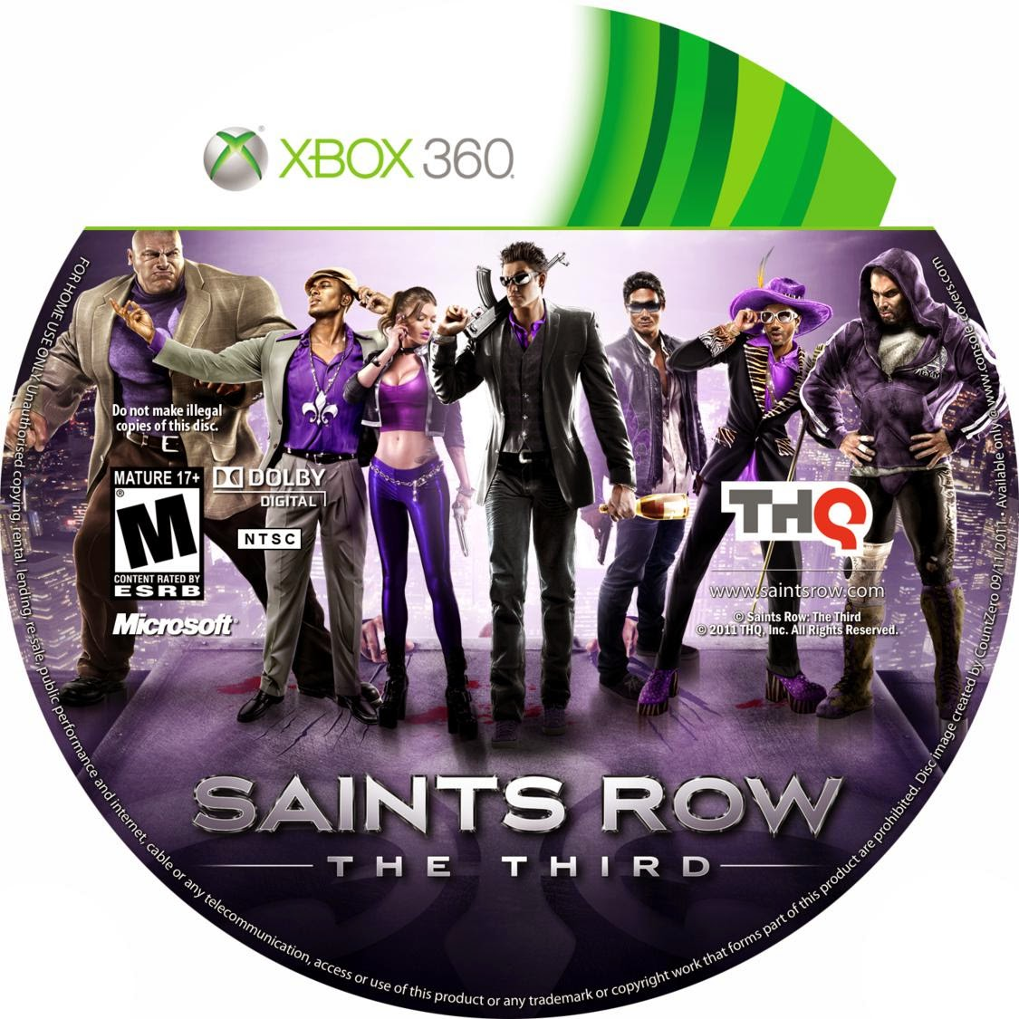 Capa Saints Row The Third XBOX 360