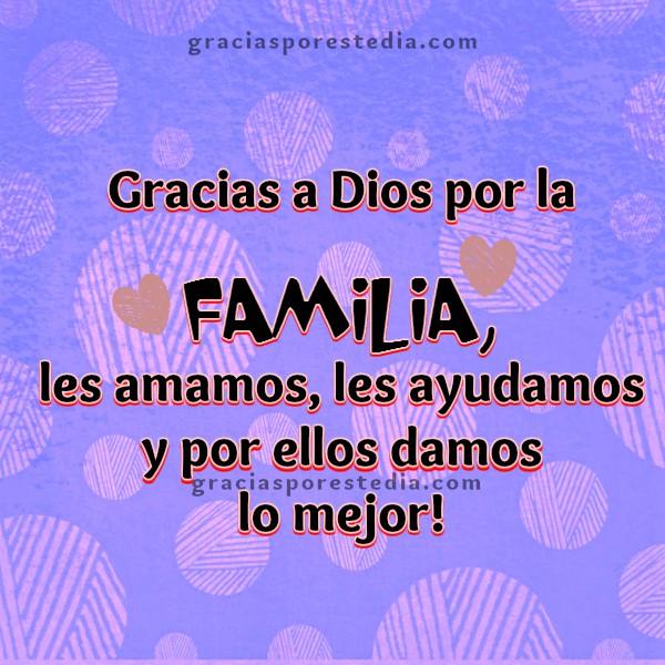 bonito mensaje cristiano de agradecimiento a Dios, gracias a Dios por familia, bendiciones, gracias por este dia, imagen para agradecer por Mery Bracho