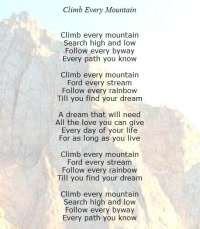 Click here to Climb every mountain and Reach!