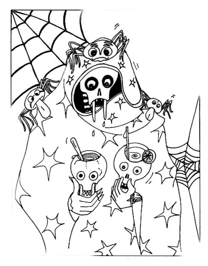 Bewitching image pertaining to spooky halloween coloring pages printable