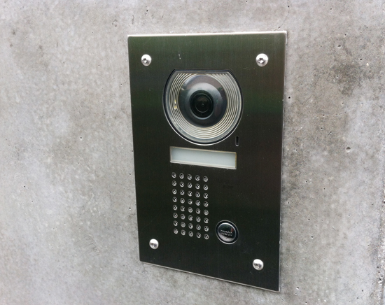 Front door video intercom replacement tatami house for Front door video intercom