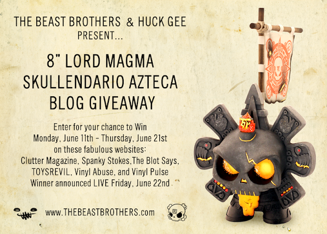 Lord Magma Skullendario Blog Giveaway from The Beast Brothers & Huck Gee