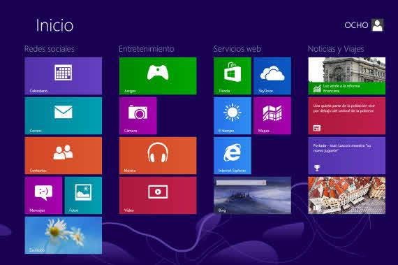 Personaliza la pantalla de inicio de Windows 8