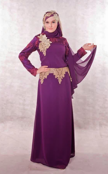 Trend Baju Gaun Muslim Terbaru 2015