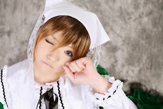 Arisa Cosplay as Suiseiseki from Rozen Maiden