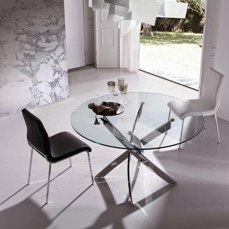 Mesas de comedor mesa de comedor de cristal - Cristales para mesas redondas ...