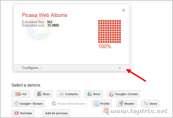 google-takeout-configure