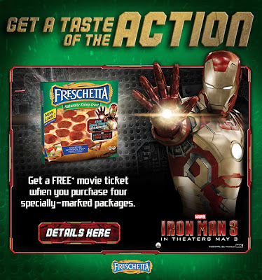 FREE Iron Man 3 Movie Ticket When You Buy Freshetta, Tony's or Red Baron Pizza #IronMan3Event