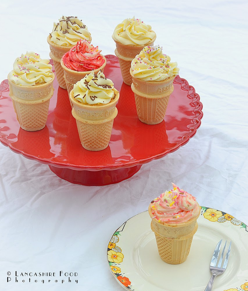 Ice cream cupcakes in association with Baking Mad