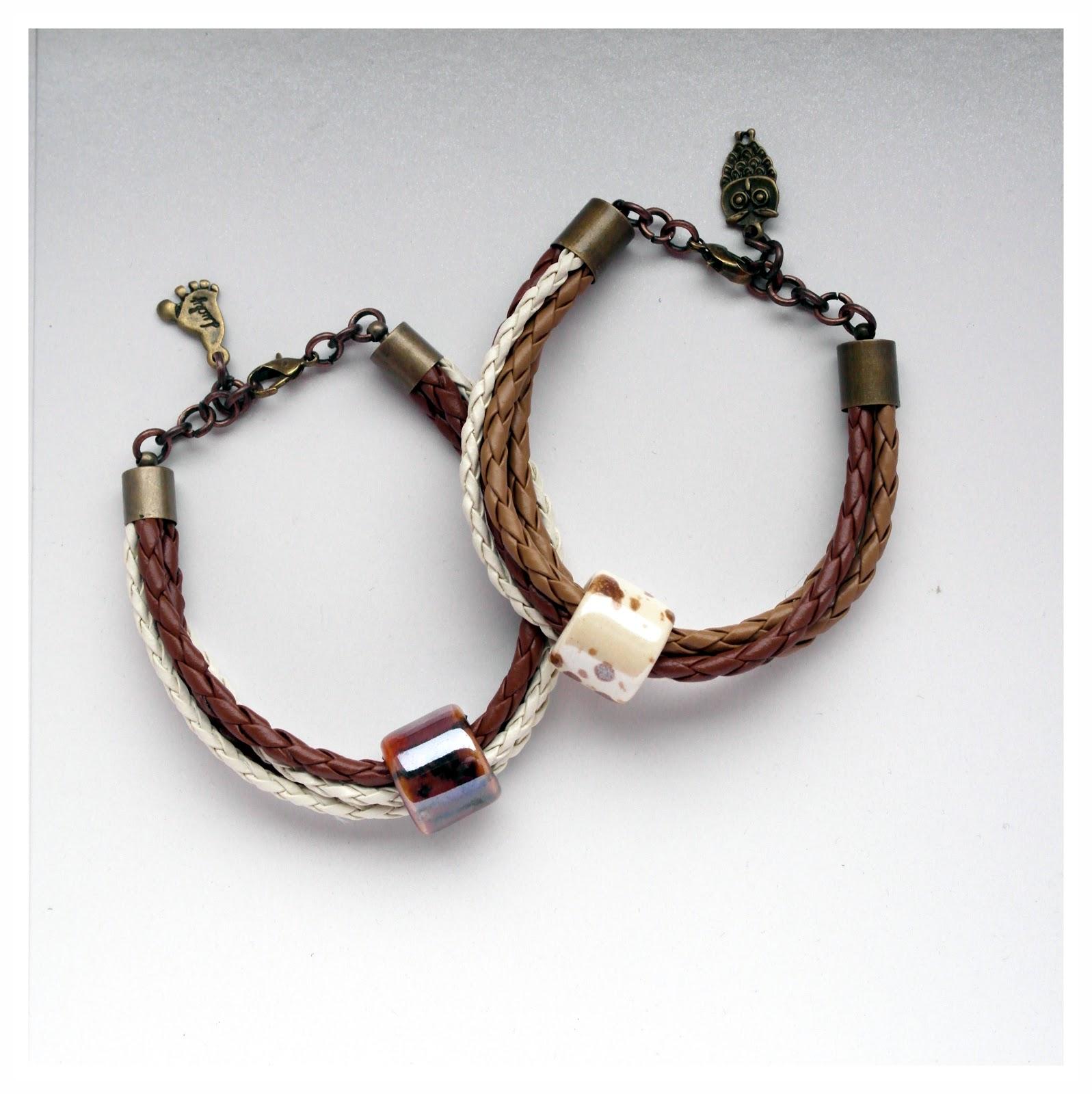 Ceramic beads – bransoletka z ceramiką :)