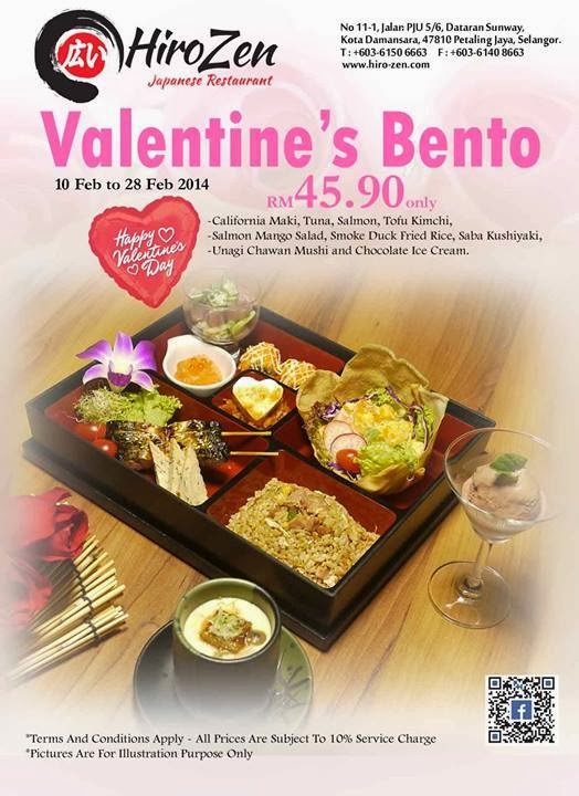 Valentine Day Promotion At Hiro Zen Japanese Restaurant Malaysian